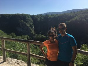 Mike and Becca at Plitvice Lakes National Park