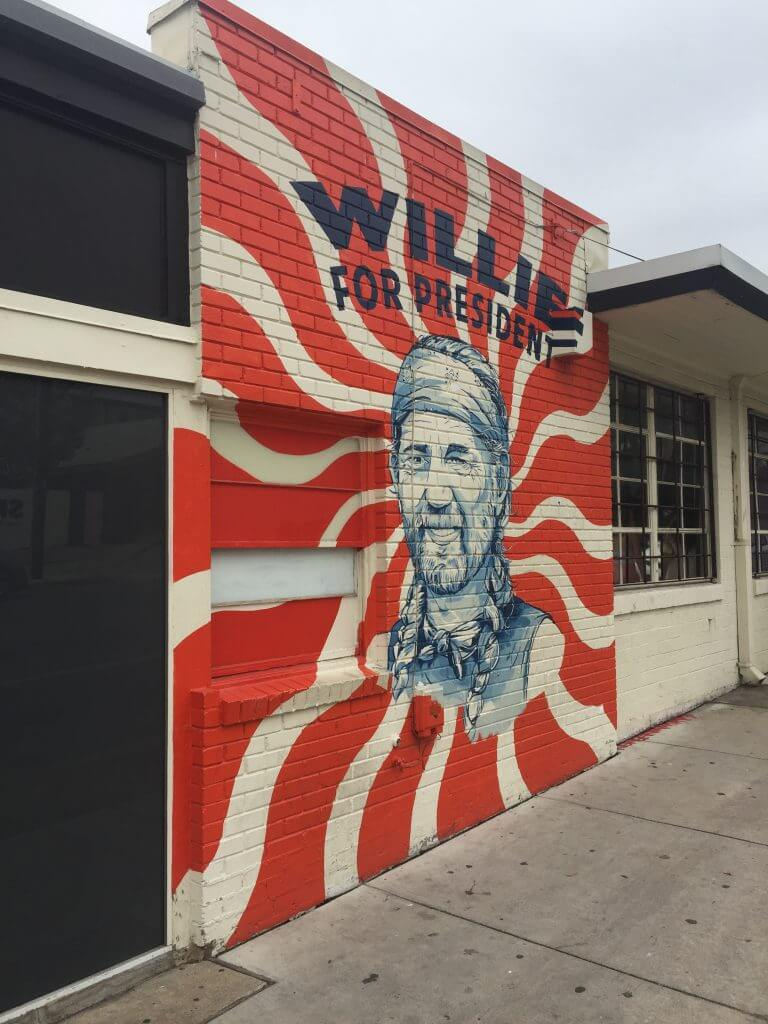 Austin, Texas Willie Nelson Mural