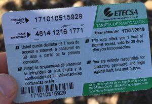 Cuba Internet Card
