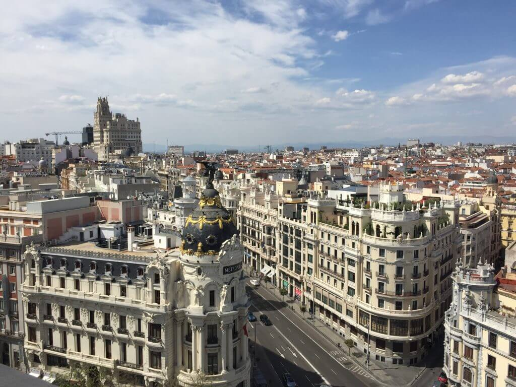 Best Rooftop Bar Madrid Circulo de las Bellas Artes