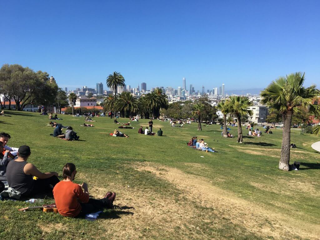 Misson Dolores Park in Mission